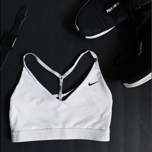 Nike - white Dri-Fit Sports bra